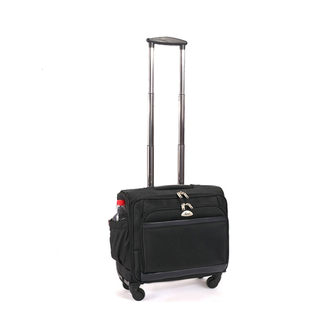Letrend Business Oxford Rolling Luggage Spinner Men Trolley 18 Inch Cabin Laptop Bags Wheels Suitcases Travel