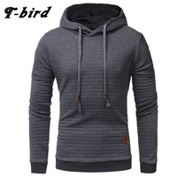 T Bird 2017 New Fashion Mens Hoodies Brand Men Lattice Jacquard Sweatshirt Male Hoody Hip Hop