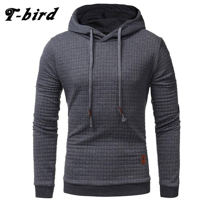 T Bird 2017 New Fashion Mens Hoodies Brand Men Lattice Jacquard Sweatshirt Male Hoody Hip Hop