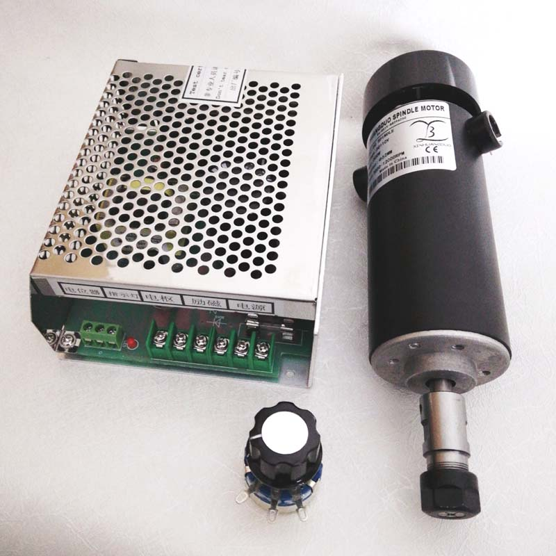 0 5kw Air cooled spindle ER11 chuck CNC 110V 500W Spindle DC Motor Power Supply speed