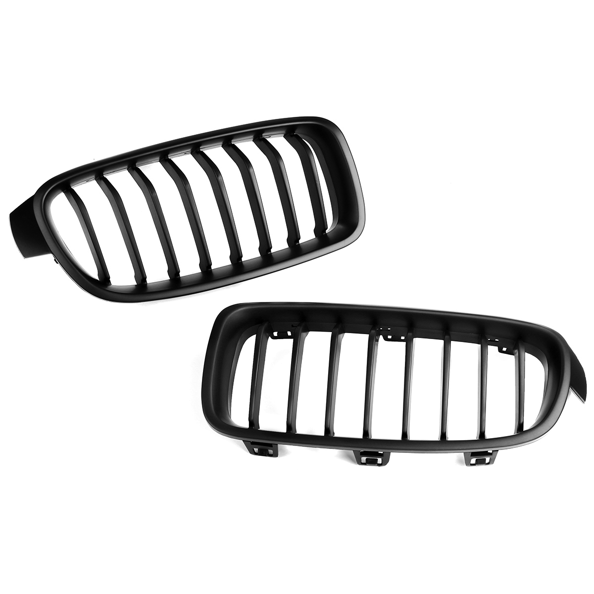 1pair matte gloss carbon black m color front kidney grill grilles BMW F30 M3 1pair matte gloss carbon black m color front kidney grill grilles for bmw f30 f31 f35 3 series 2012 2013 2014 2015 2016 2017 in racing grills from