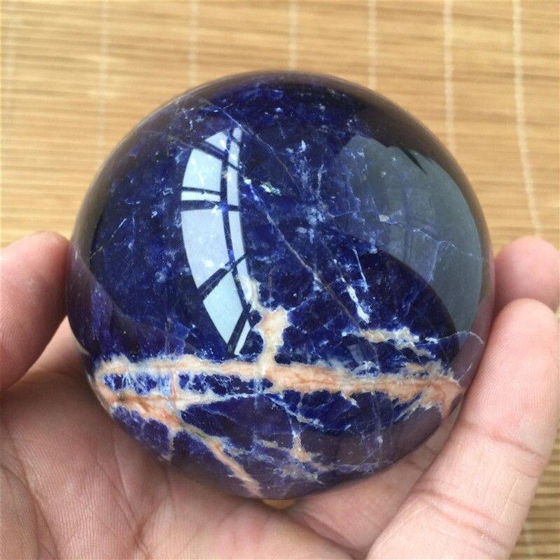 Nova chegada! Natural azul sodalite esfera de