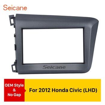 Seicane 2Din Car Radio Fascia Audio Frame Dash Refitting Kit Auto Stereo Install Dashboard For 2012 Honda Civic LHD