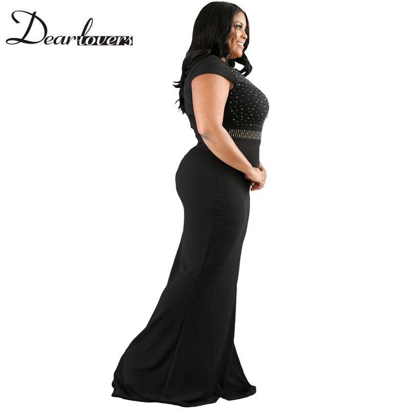 TUHAO 2018 autumn vintage trumpet Women dress Plus Size 3xl Spandex Dresses  Black elegant Maxi long party women\'s Dresses DLM