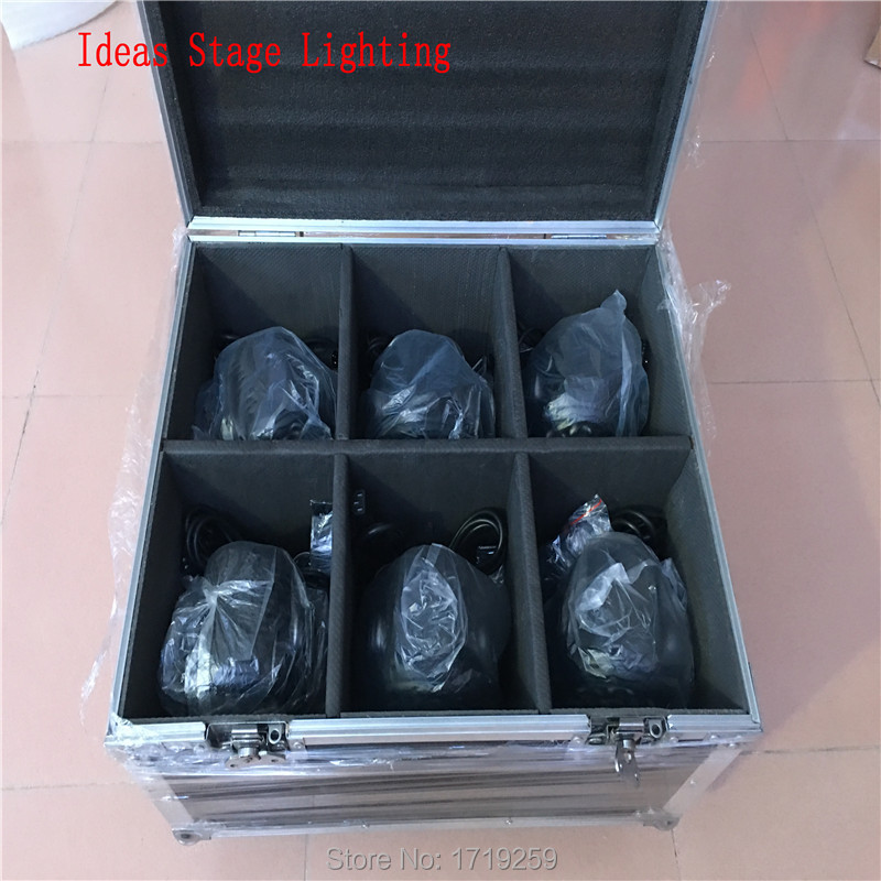 Flight Case with 6 pieces 18x3w RGB LED mini Moving Head Light Moving Head Wash Light Fast shipping flight case with 8 pieces 18x3w rgb led