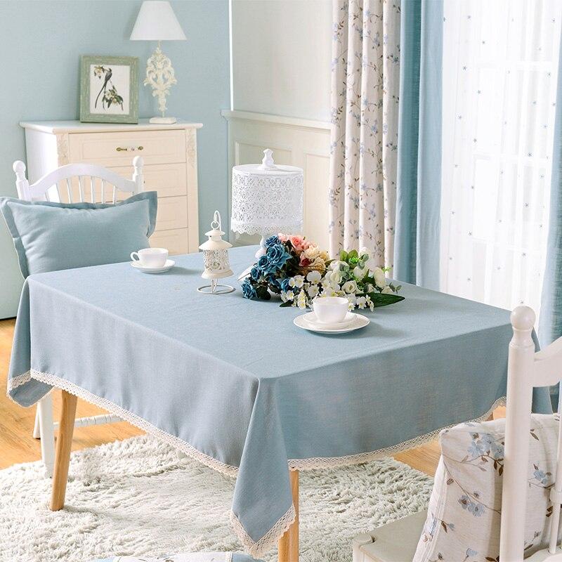 Modern Solid Purple Rectangular Table Cloths Cutwork Blue ...