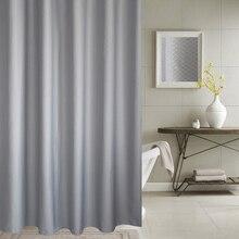 EHOMEBUY занавески для душа Толстые жаккардовые занавески s высокого качества Ванная комната серебристо-серый соты текстурированная полиэфирная ткань дропшиппинг