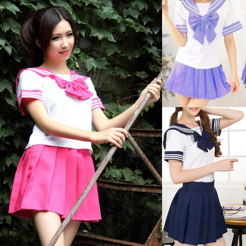 2017 7 Colors Girls Dress Cosplay Costume Brand Girls Japanese School Uniform Party Dress Lovely Short Style Sex Sailor Costume