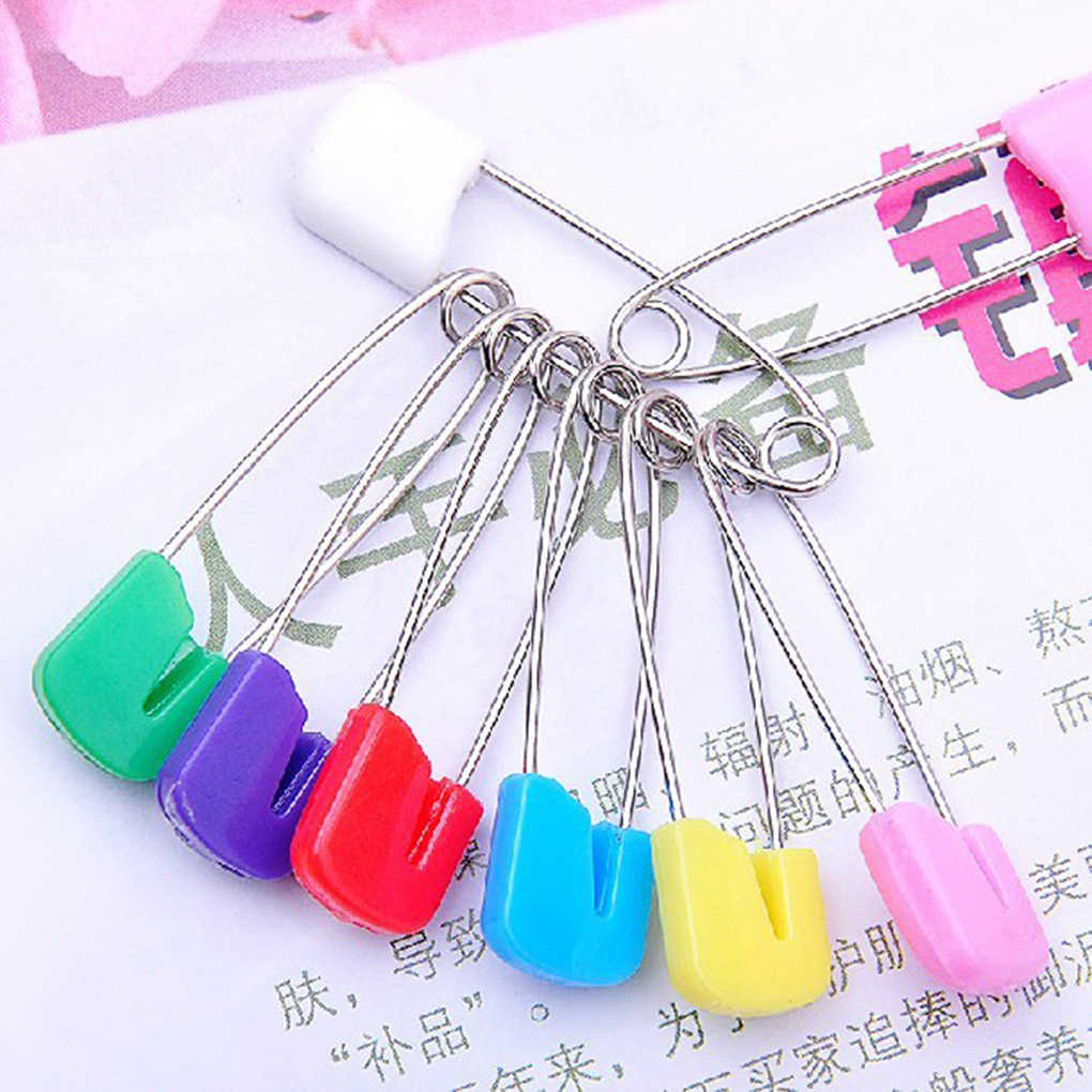 10 X SAFETY PINS//NAPPY PINS  FOR YOUR  SEWING CRAFT NEEDS,YOUR CHOICE OF COLOURS