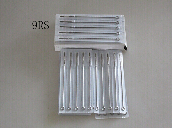 9RS Round Shaders Sterilize 50PCS Tattoo Needles Best quality Tattoo Needles Supplier for tattoo machine Free Shipping