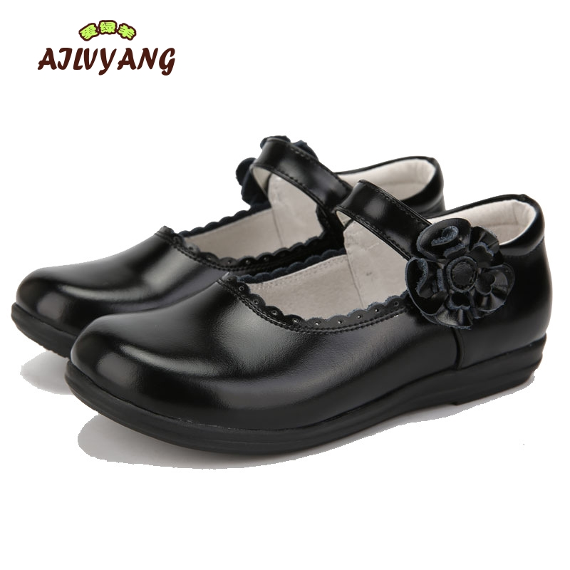 Girls Formal Genuine Leather Shoes Children Flower Hooks Flats Kids  Princess Dace Wedding Shoes Girls Performace Leather Shoes-in Leather Shoes  from Mother ...
