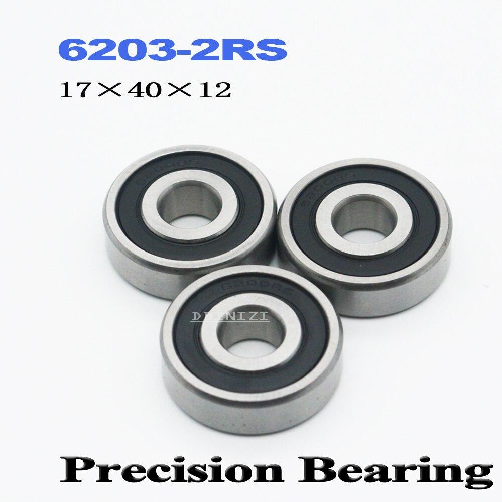 6203RS Bearing ABEC-3 17x40x12 Mm Deep Groove 6203-2RS Ball Bearings 6203RZ 180201 RZ RS 6203 2RS EMQ Quality  (4 PCS)