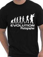 L'évolution De Un Photographe Cadeau Photography Cameraman Mens T Shirt Plus Taille et Colors-A058