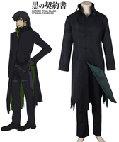 Free shipping Darker Than Black Hei Cosplay Costume Black Men's Costumes