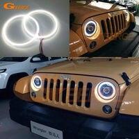 For Jeep Wrangler CJ TJ JK 7 Headlamp Excellent Angel Eyes Ultrabright Illumination Smd Led Angel