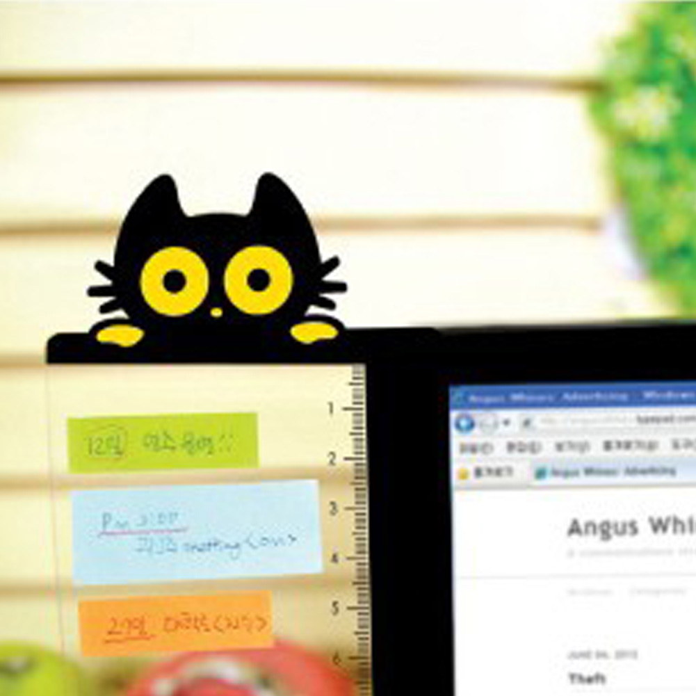 Left Or Right Type Cat Monitor Board Memo Message Pads Computer Screen Holder  For Office Home Card Holder #0124