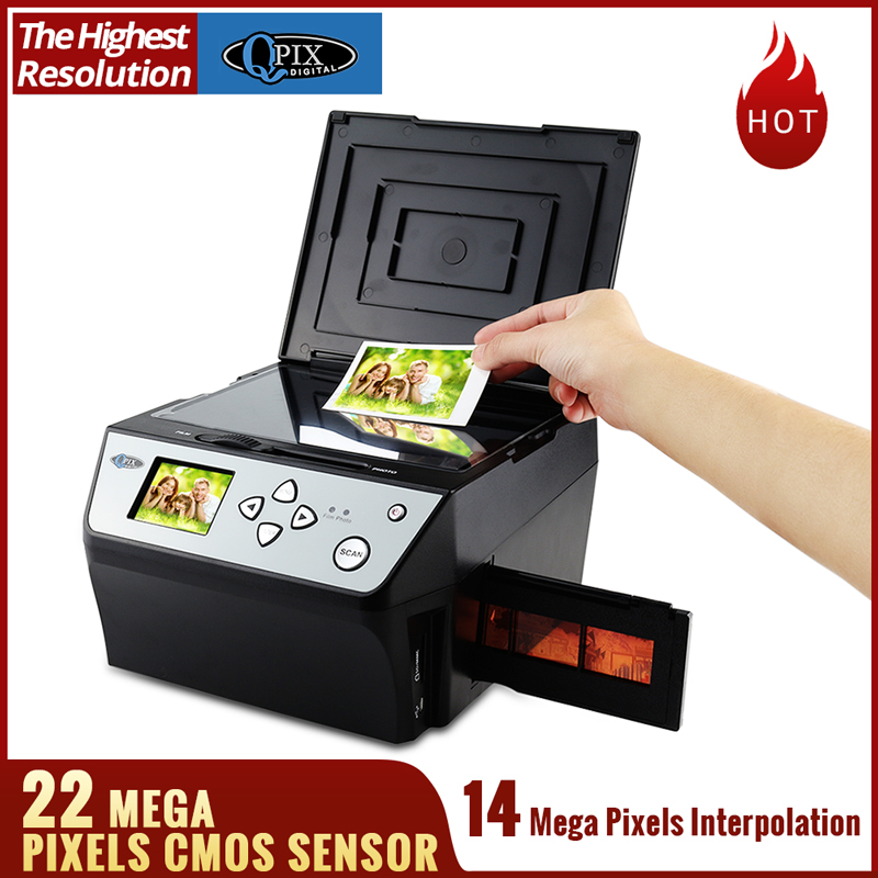 22 Mega Pixels 4 in 1 COMBO Photo and Digital Film Scanner 135 Negative Converter Photo