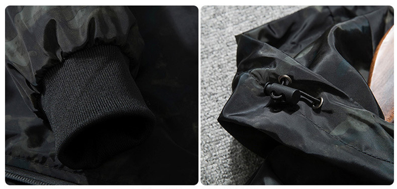 2018 Spring Autumn Mens Casual Camouflage Hoodie Jacket Men Plus Size 4XL Waterproof Windbreaker Coat Male jaqueta masculina