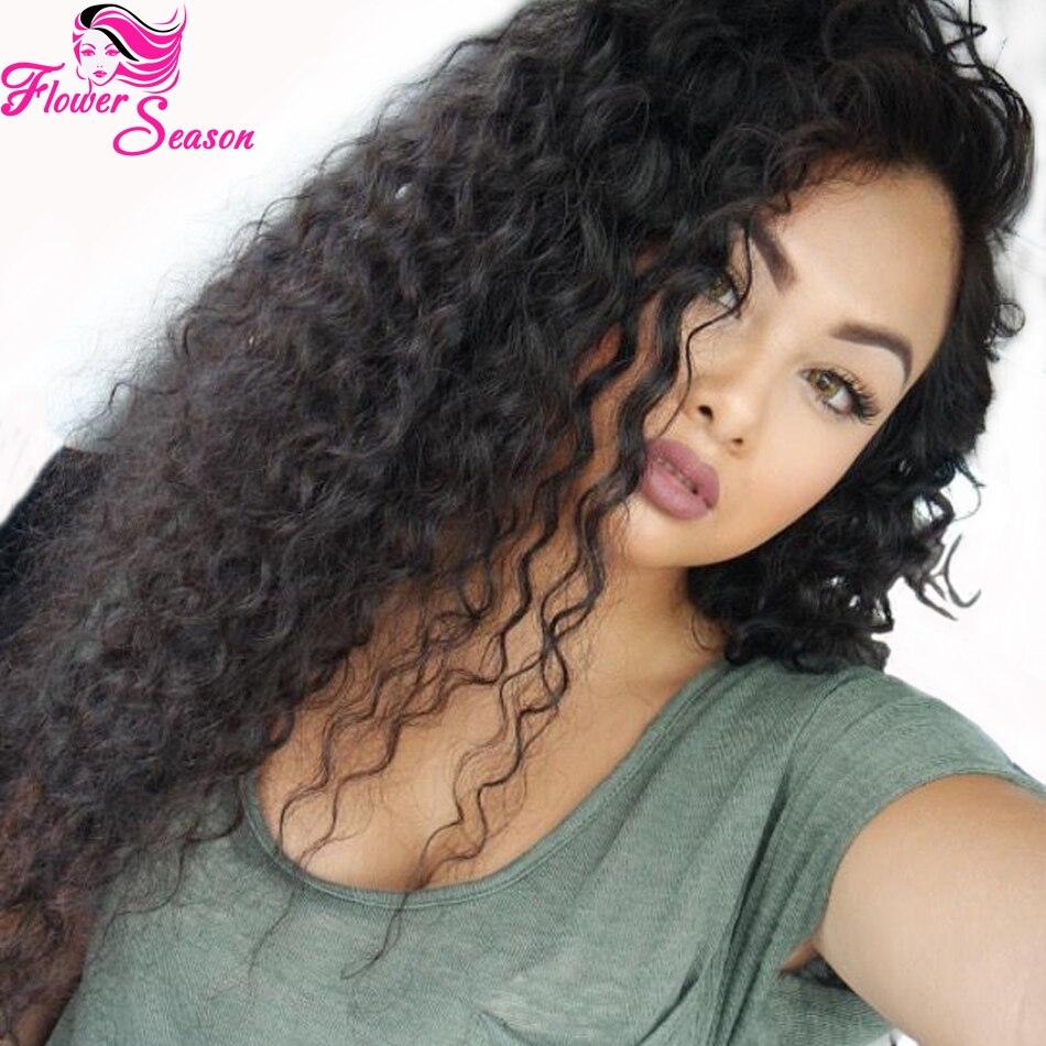 Top Quality Peruvian Kinky Curly U Part Wigs Virgin Hair