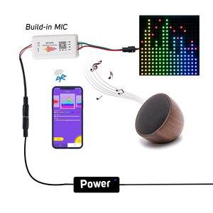 Image 3 - Светодиодный контроллер SP107E, Bluetooth Pixel IC SPI Music через приложение для телефона, для LPD8806 WS2812 SK6812 SK9822 RGBW APA102, строка