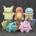 1pcs Pikachu Charmander Squirtle Bulbasaur Clefairy Ditto Metamon Kawaii Plush keychain keyring Toy Soft Stuffed Doll