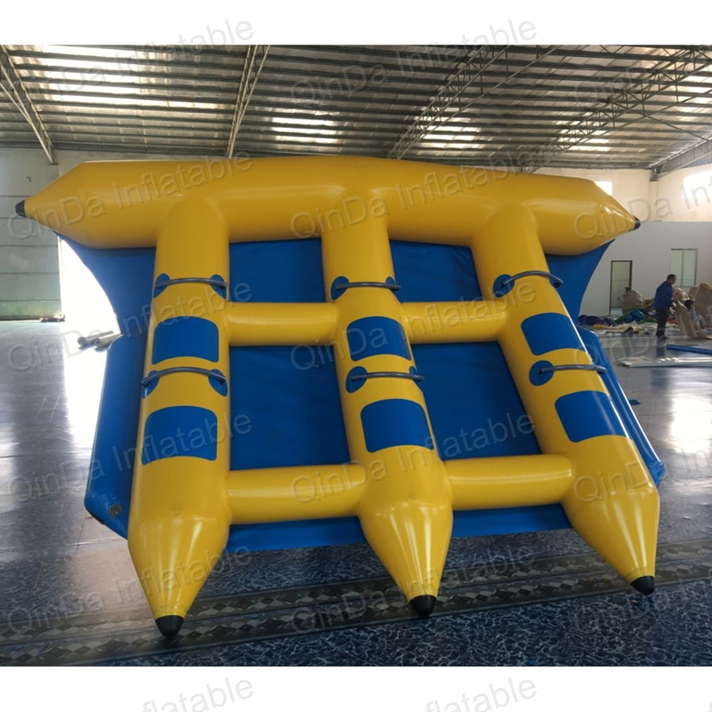 Durable pvc airtight summer sea sprots inflatable flying fish tube towable flying banana boat for sale single inflatable flying fish towable tube inflatable flyfish banana boat water fun toy