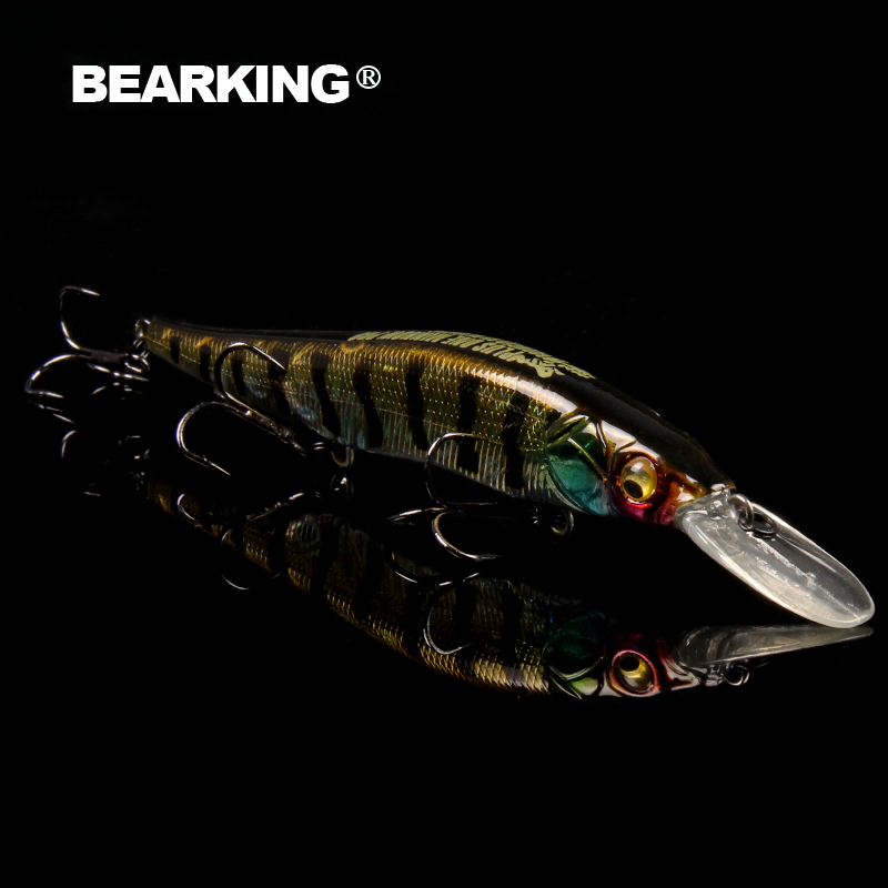 Bearking 2017 excellent  good fishing lures minnow,quality professional baits 11cm/14g hot model crankbaits penceil bait popper 200mm 27g 5pcs lot color send randomly 2015 good bearking fishing lures minnow quality professional minnow