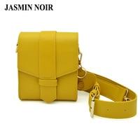 Summer New Women Fresh Mobile Phone Bag Cute Female Pu Leather Wide Straps Yellow Chain Crossbody