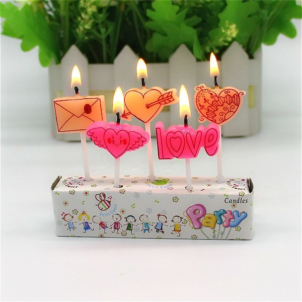 Set of 5 Cute Candles