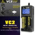 XTAR originales VC2 Pantalla LCD Universal XTAR VC2 cargador de Batería para 10440/16340/14500/14650/17670/18350/18500/18650