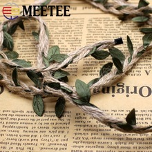 Meetee 6MM 10M Length DIY Background Rattan 6 Mm Decoration Rope Leaf Mixed Forest Series Fresh ZK5027