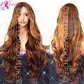 Плотность 180 человеческих волос бразильский объемная волна Glueless фронта парики ломбер полный человеческих волос парики для чернокожих женщин