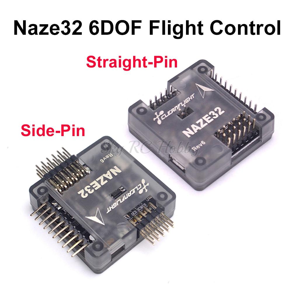 Naze32 naze 32 rev6 6dof com pino soldado placa controlador de vôo com escudo para fpv 250 220 QAV-X 214mm fpv rc racing drone
