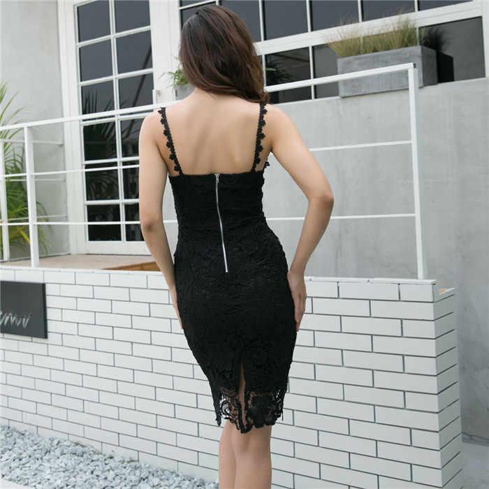 Украина Zanzea кружево Dress2019 в европейском и американском стиле женские Модные Бесплатная доставка, модели с объемными элементами на бретельках с v-образным вырезом, сексуальное обтягивающее платье