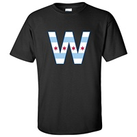 Chicago Flag W Mens T Shirt Slim Fit T Shirts Casual Letter Style Men S Casual