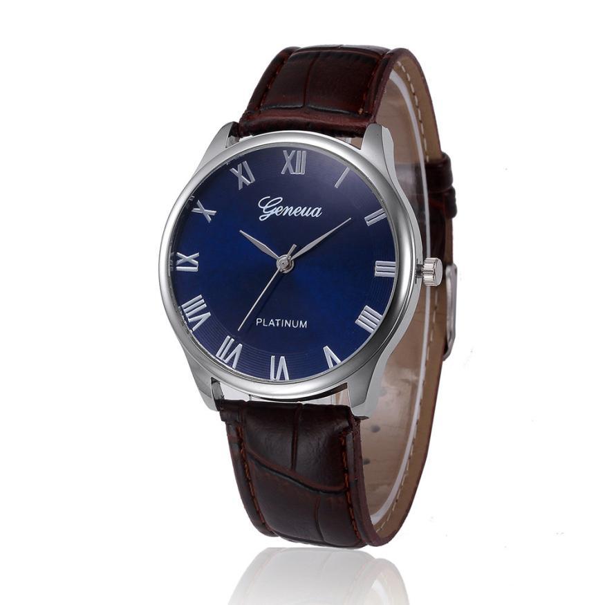 HF 2018 Retro Design Leather Band Analog Alloy Quartz Wrist Watch ma09Levert Dropship Box Z518 5Down стоимость