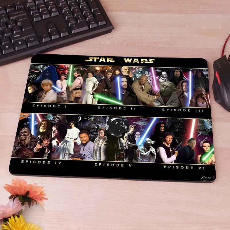 Yuzuoan Звездные войны компьютер Gaming keyboard Таблица Мышь Pad Мышь колодки украсить ваш стол Нескользящие резиновые Pad белый оверлок края