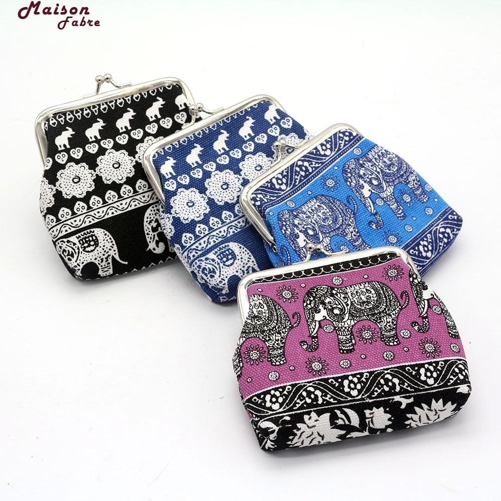 Maison Фабр портмоне Женская мода Для женщин холст леди кошелек слон цветочный кошелек клатч 40 L5