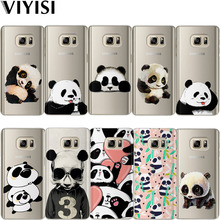 VIYISI For Samsung Galaxy S8 S9 Plus Phone Case Cover J7 J5 J3 A5 A3 2015 2016 2017 S6 S7 Edge Coque Panda Animals Shell все цены
