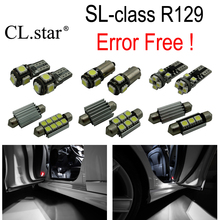 16pc X Error Free LED interior dome light lamp Kit package For Mercedes Benz SL class R129 SL500 SL600 SL55 AMG (1992-2001)