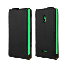 Original Genuine / Real Leather Vertical Flip Up and Down Case Cover For Nokia XL Mobile Phone Bag