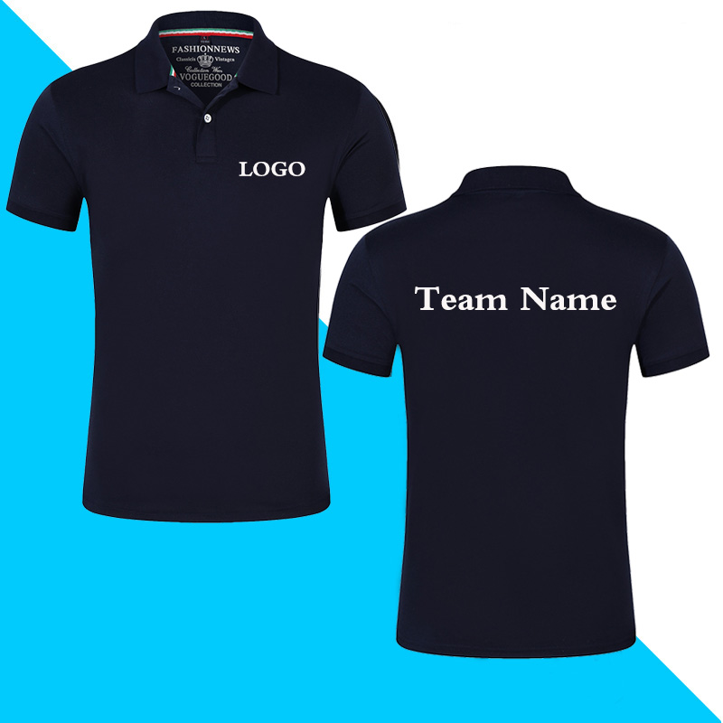 Top Quality Summer Short Sleeve Solid Classic Polo Shirts Custom Printed Design Photo Logo For Business Staff Company Uniform