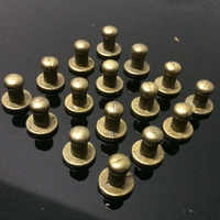 Neue 100 Stücke 8X5X8 MM Bronze Rund Schraubenspitzen Metall Nieten Nieten Screwback Spots Kegel leder Handwerk Spikes Fit DIY Machen