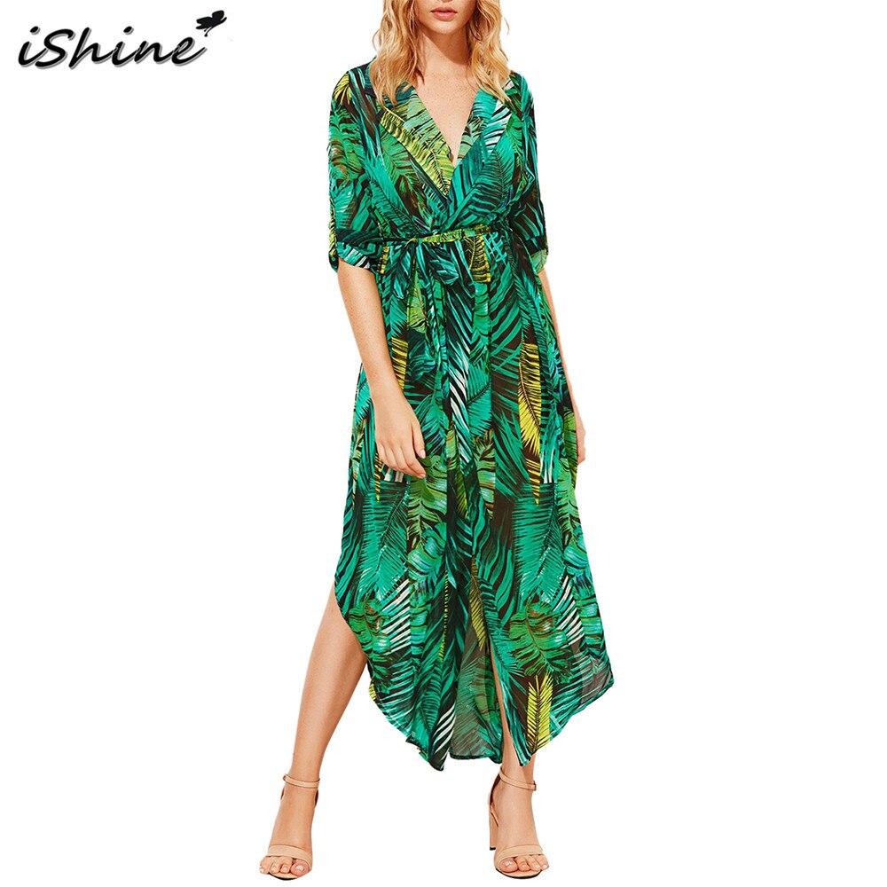 iShine long sleeve beach casual elegant women