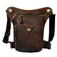 100 Cowhide Genuine Leather Casual Vintage Waist Bag Small Crossbody Travel Shoulder Bag Cell Phone Bag