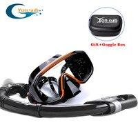 Scuba Diving Mask +Dry Snorkel Black Gold Antifog Goggle Snorkeling Mask Adult Snorkel Set Equipement Watersport Gears