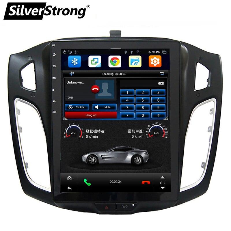 SilverStrong 10.4 pouces IPS Voiture GPS Android7.1 Tesla écran Radio Pour FORD FOCUS3 2012-2015 avec Climatiseur Sync directeur