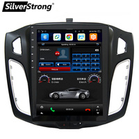 SilverStrong 10.4inch IPS Car GPS Android7.1 Tesla screen Radio For FORD FOCUS3 2012 2015 with Air Conditioner Sync Steering