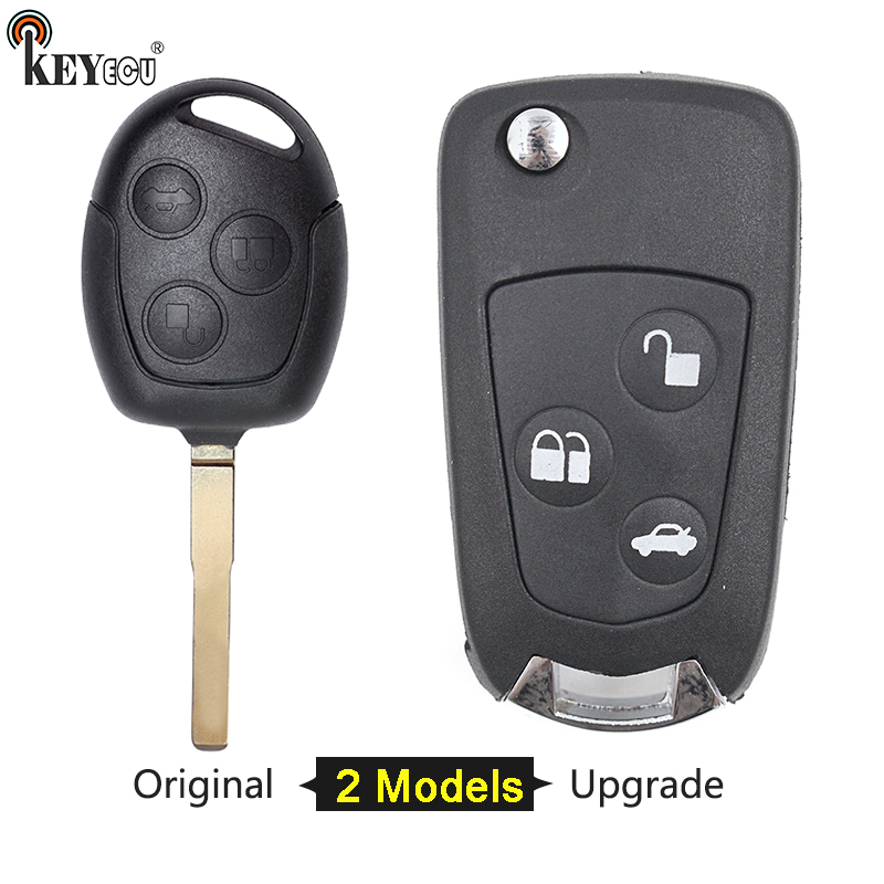 For Ford Focus Mondeo S Max Fiesta Transit Connect 3 Button  Remote Key Fob Case