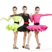 Children Ballet Dance Dress For Girls Cha Cha Kid Competition Latin Dress Dancing Kids Girl Class